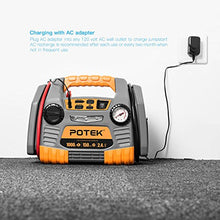 Load image into Gallery viewer, POTEK Car Jump Starter with 150 PSI Tire Inflator/Air Compressor,1000 Peak/500 Instant Amps with USB Port