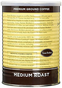 Farmer Brothers 100% Arabica Medium Roast Ground Coffee - Rainforest Alliance Certified - Omigod, Dibs!™