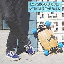 Load image into Gallery viewer, Eggboards Cruiser Skateboard Bamboo Longboard - Wide Small Bamboo Skateboards Ride Like Longboards. Complete Longboard for Adults and Kids. 19 inches Long Skate Board Deck in Wood.