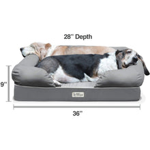 "Load image into Gallery viewer, PetFusion Orthopedic Dog Bed, 4"" Solid Memory Foam, Waterproof liner, Removable Cover"