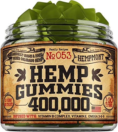Hemp Gummies 400,000 - Premium Hemp Gummy Bears for Stress & Anxiety Relief - Made in USA - Hemp Extract Natural Calm Gummies - Efficient with Inflammation, Stress & Sleep Issues - Omega 3 Gummies