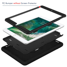 Load image into Gallery viewer, Hocase iPad 5th/6th Generation Case, iPad 9.7 2018/2017 Case, High-Impact Shock Absorbent Dual Layer Silicone+Hard PC Bumper Protective Case for iPad A1893/A1954/A1822/A1823 - Black - Omigod, Dibs!™