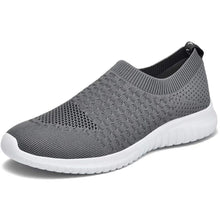 Load image into Gallery viewer, Konhill Women's Walking Tennis Shoes - Lightweight Athletic Casual Gym Slip on Sneakers,Dark Grey,42 - Omigod, Dibs!™