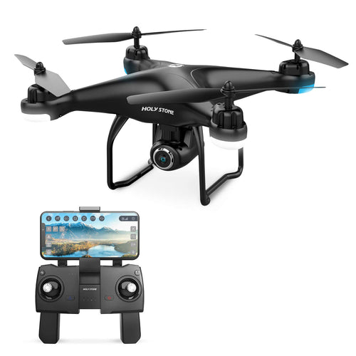 Holy Stone HS120D FPV Drone with Camera for Adults 1080p HD Live Video and GPS Return Home, RC Quadcotper Helicopter for Kids Beginners 18 Min Flight Time Long Range with Follow Me Selfie Functions - Omigod, Dibs!™