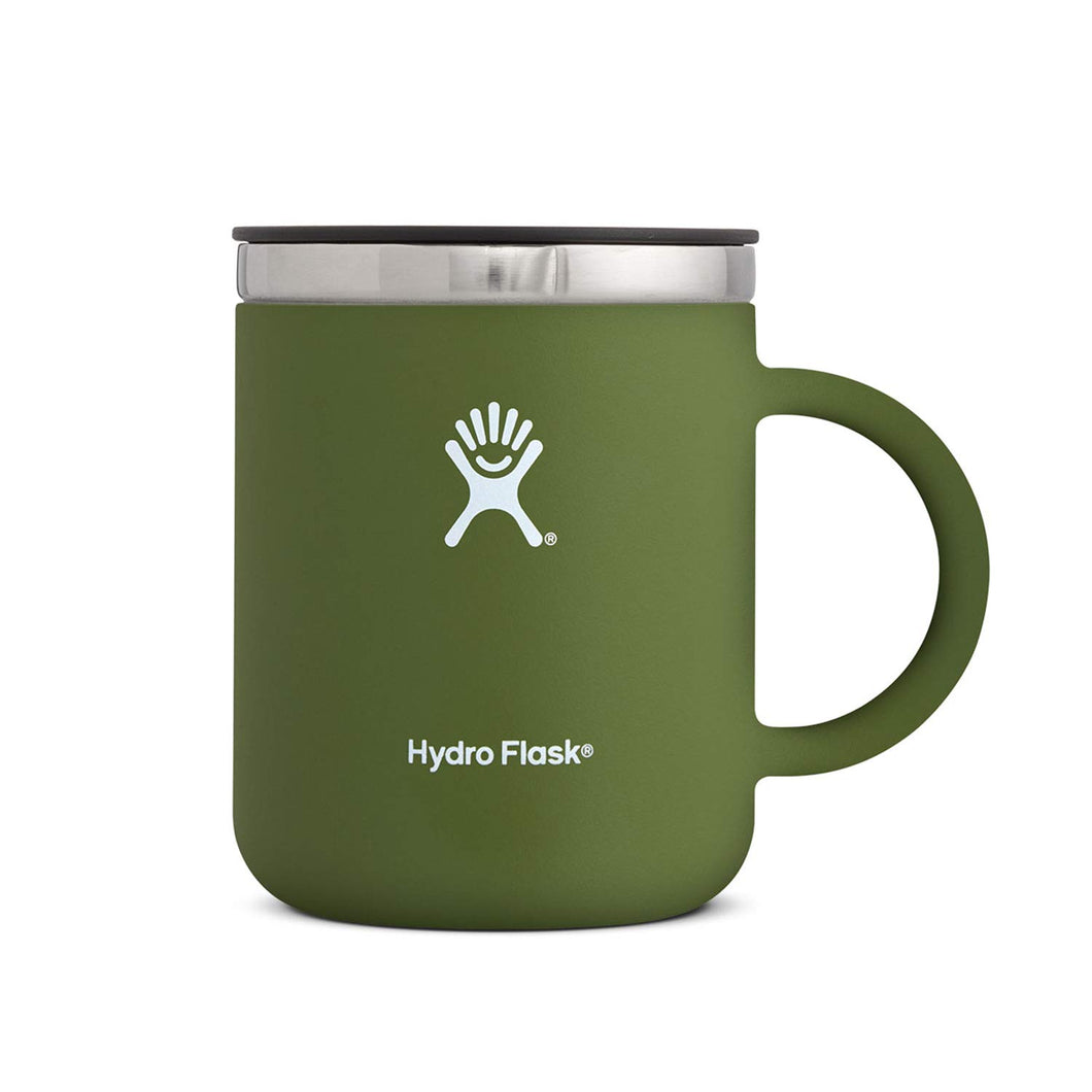 Hydro Flask 12 oz Travel Coffee Flask | Stainless Steel & Vacuum Insulated | Press-In Lid | Olive - Omigod, Dibs!™