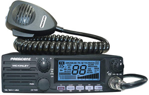 President Electronics MC KINLEY AM/SSB Tranceiver CB Radio, 40 Channels, 7 Weather Channels