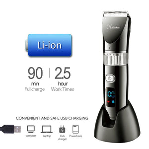 Cordless Hair Trimmer Pro Hair Clippers Beard Trimmer for Men Haircut Kit Cordless USB Rechargeable Waterproof