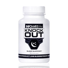 Load image into Gallery viewer, Infowars Life - Knockout Sleep Support (30 Capsules) – Natural Sleep Aid with Melatonin, Valerian, Chamomile & More to Fall Asleep Faster & Stay Asleep - Omigod, Dibs!™