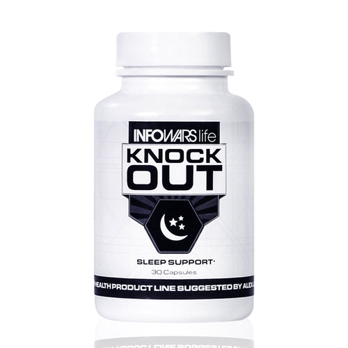 Infowars Life - Knockout Sleep Support (30 Capsules) – Natural Sleep Aid with Melatonin, Valerian, Chamomile & More to Fall Asleep Faster & Stay Asleep - Omigod, Dibs!™