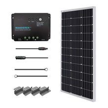 Load image into Gallery viewer, Renogy 100 Watts 12 Volts Monocrystalline Solar Starter Kit