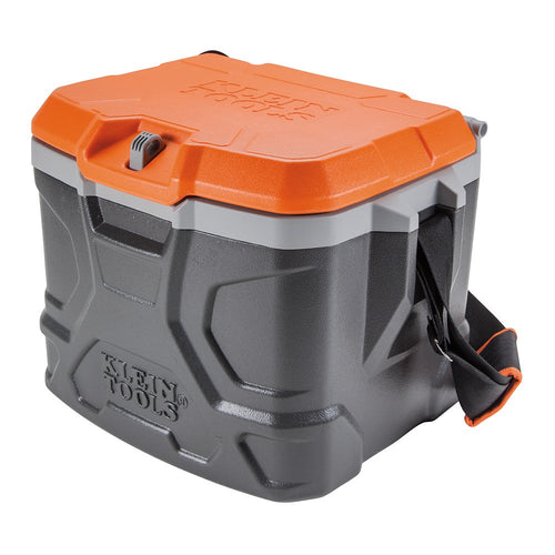 Work Cooler 17-Quart, Keeps Cool 30 Hours, Seats 300 pounds, Tradesman Pro Tough Box Klein Tools 55600