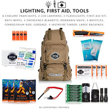 Load image into Gallery viewer, Sustain Supply Co. Premium Emergency Survival Bag/Kit – Be Equipped with 72 Hours of Disaster Preparedness Supplies for 4 People
