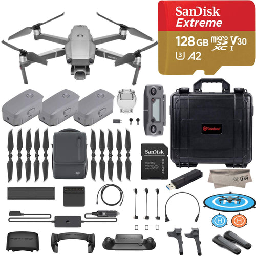 DJI Mavic 2 Pro Drone Quadcopter, Fly More Combo Kit, Hasselblad Camera HDR Video, with 3 Batteries, 128GB Micro SD, Landing Gear and Pad, Prop Holder, Stick Protector, Extra Hard Carrying Case - Omigod, Dibs!™