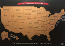 Load image into Gallery viewer, Scratch Off Map of The United States Travel Map - 17x24 in