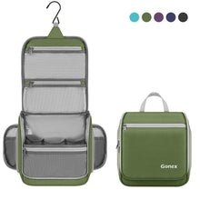 Load image into Gallery viewer, Gonex Hanging Toiletry Bag, Travel Organizer Bag for Makeup and Toiletries, Men and Women