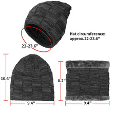Load image into Gallery viewer, KRATARC Winter Warm Scarf Beanie Hat Glove Neck Gaiter Set