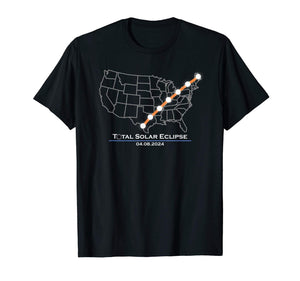 America Totality Total Solar Eclipse April 8 2024 T-Shirt - Omigod, Dibs!™
