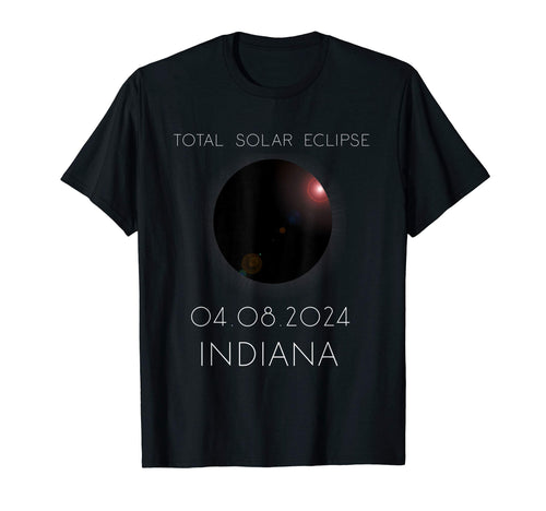 Total Solar Eclipse Indiana April 8th 2024 T-Shirt