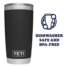 Load image into Gallery viewer, YETI Rambler 20 oz Stainless Steel Vacuum Insulated Tumbler w/MagSlider Lid, Black