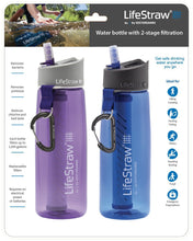 Load image into Gallery viewer, LifeStraw Go Water Filter Bottles with 2-Stage Integrated Filter Straw (Pack of 2)