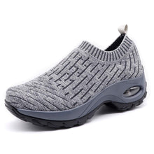 Load image into Gallery viewer, HKR Womens Walking Tennis Shoes Athletic Sports Gym Sock Sneakers Arch Support Comfortable Work Shoes Ligth Grey 7.5(ZJW1872qianhui39) - Omigod, Dibs!™