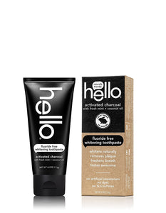 Hello Oral Care Activated Charcoal Teeth Whitening Fluoride Free and SLS Free Toothpaste, 4 Count - Omigod, Dibs!™