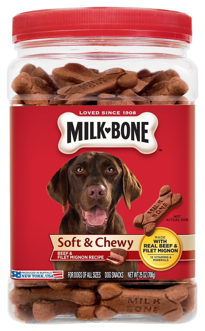 Milk-Bone Soft & Chewy Beef & Filet Mignon Recipe Dog Treats, 25-Ounce - Omigod, Dibs!™