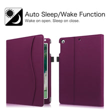 Load image into Gallery viewer, Fintie iPad 9.7 2018 2017 / iPad Air 2 / iPad Air Case - [Corner Protection] Multi-Angle Viewing Folio Cover w/Pocket, Auto Wake/Sleep for Apple iPad 6th / 5th Gen, iPad Air 1/2, Purple - Omigod, Dibs!™