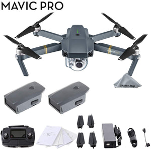 DJI Mavic Pro 4K Quadcopter with Remote Controller, 2 Batteries, with 1-Year Warranty - Gray - Omigod, Dibs!™