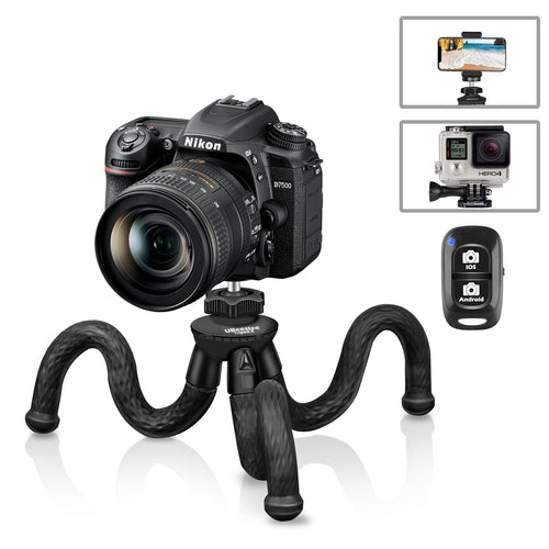 Flexible Camera Tripod, UBeesize 12 Inch Mini Tripod Stand