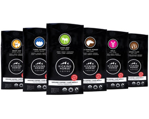Kicking Horse Coffee, Kick Ass, Dark Roast, Ground, 10 oz - Certified Organic, Fairtrade, Kosher Coffee - Omigod, Dibs!™