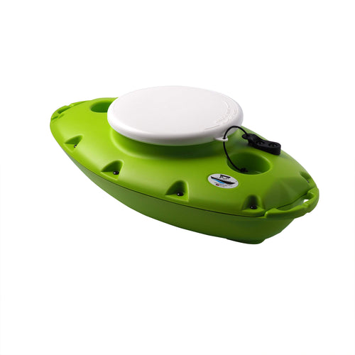 CreekKooler™ Pup Floating Cooler, 15 Quart, Tow Behind, Green - Omigod, Dibs!™