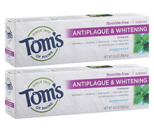 Load image into Gallery viewer, Tom's of Maine Fluoride-Free Antiplaque & Whitening Toothpaste, 2-Pack
