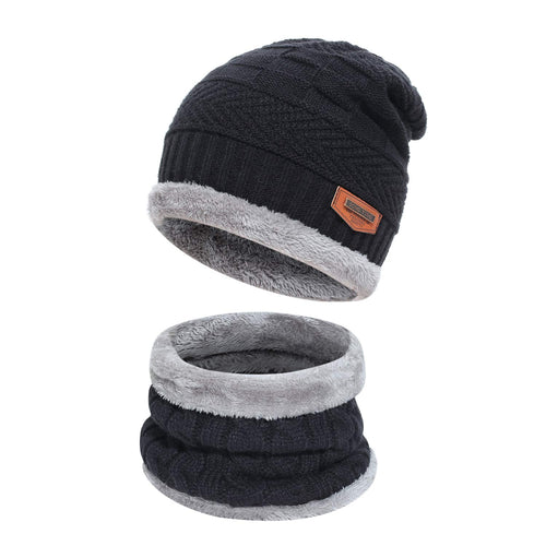 2-Pieces Winter Beanie Hat Scarf Set