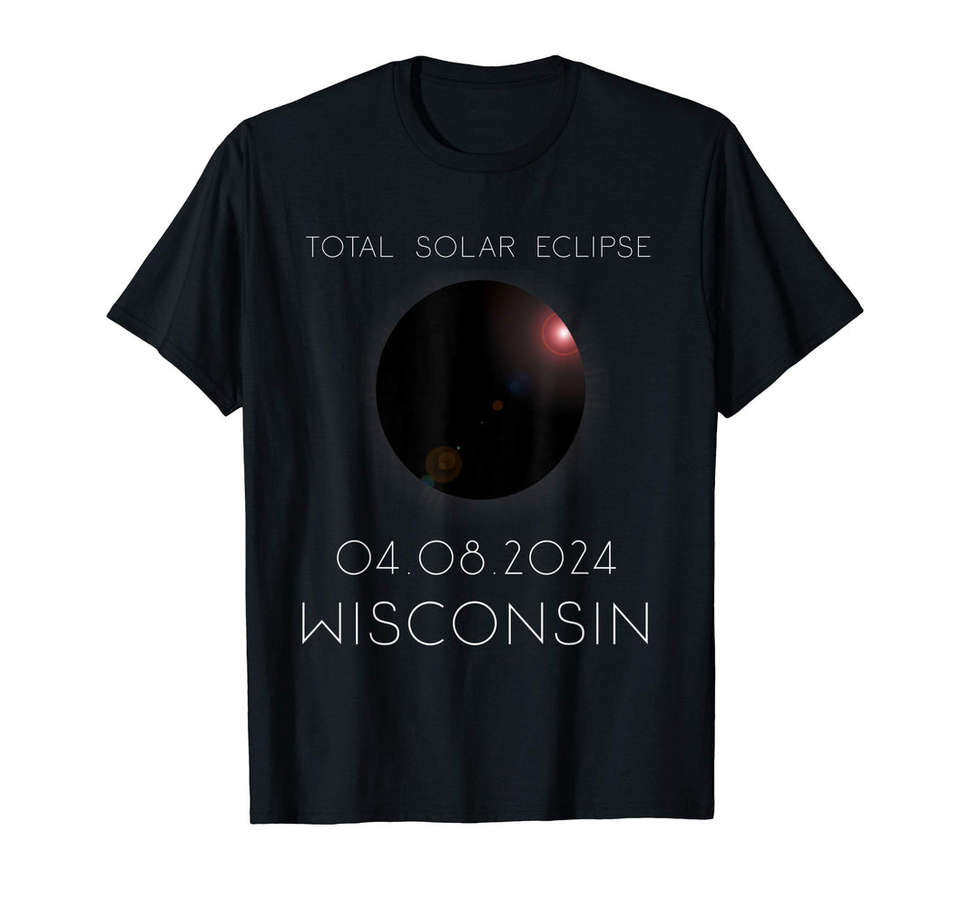 Total Solar Eclipse Wisconsin April 8th 2024 T-Shirt