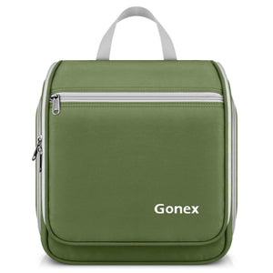 Gonex Hanging Toiletry Bag, Travel Organizer Bag for Makeup and Toiletries, Men and Women