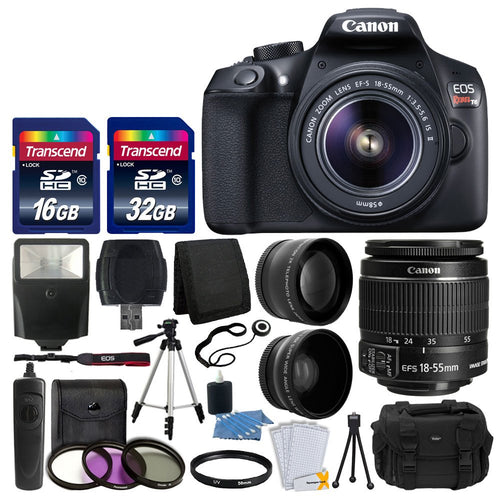 Canon EOS Rebel T6 Digital SLR Camera Fully Accessory Bundle