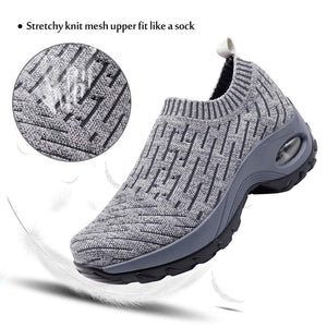 HKR Womens Walking Tennis Shoes Athletic Sports Gym Sock Sneakers Arch Support Comfortable Work Shoes Ligth Grey 7.5(ZJW1872qianhui39) - Omigod, Dibs!™