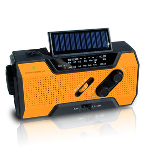 NOAA Weather Radio | Solar Emergency Survival Device with AM/FM Transmission | Windup Power for Emergencies, Tornadoes, Hurricanes | Micro USB Charger and Power Bank for Cell Phones and Electron - Omigod, Dibs!™