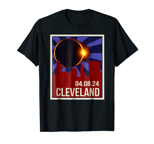 Vintage Total Solar Eclipse Cleveland - April 8th, 2024 Tee