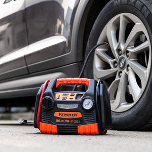 Kinverch Portable Car Jump Starter 900 Peak Amp 12 Volt with 1-USB 1-12V Power Ports & 150 PSI Air Compressor - Omigod, Dibs!™