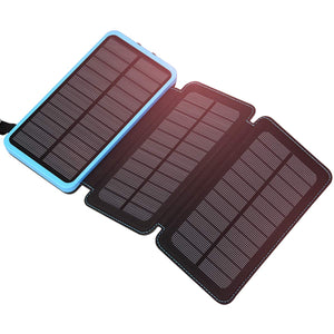 FEELLE 24000mAh Waterproof Portable Solar Charger External Battery Pack w/ Dual USB Ports - Omigod, Dibs!™