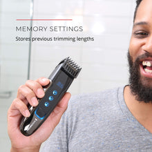 Load image into Gallery viewer, Remington MB4700 Smart Beard Trimmer with Memory Settings and Digital Touch Screen, Rechargeable for Cordless Use