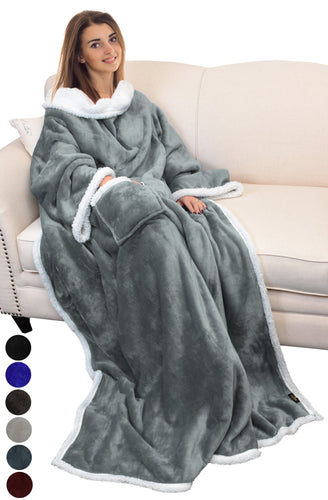 Catalonia Sherpa Wearable Blanket