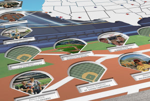 Personalized Ballparks Photo Map