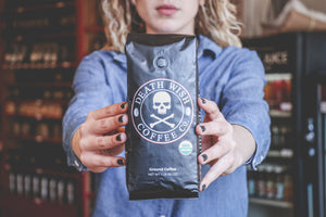 Death Wish Ground Coffee, The World's Strongest Coffee, Fair Trade and USDA Certified Organic, 16 Ounce - Omigod, Dibs!™