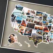 Load image into Gallery viewer, USA Photo Map - 50 States Travel Map - 24 x 36 in