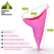 Load image into Gallery viewer, Outdoor Life Adventures Portable Female Urination Device - Pink
