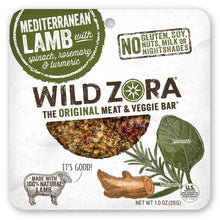 Load image into Gallery viewer, Wild Zora - Mediterranean Lamb - Meat and Veggie Bars (10-pack)