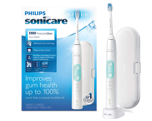 Philips Sonicare ProtectiveClean 5100 Electric Rechargeable Toothbrush, Gum Health, White - Omigod, Dibs!™